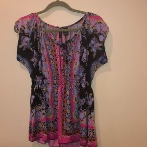New directions petite floral top size extra large